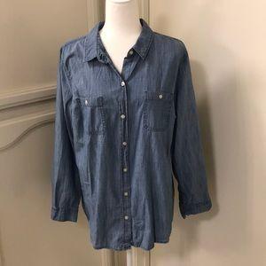 Old Navy denim long sleeve shirt